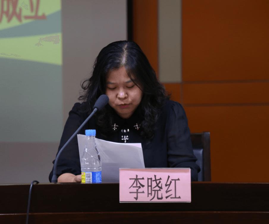 徐州市总工会女工部部长李晓红发表讲话